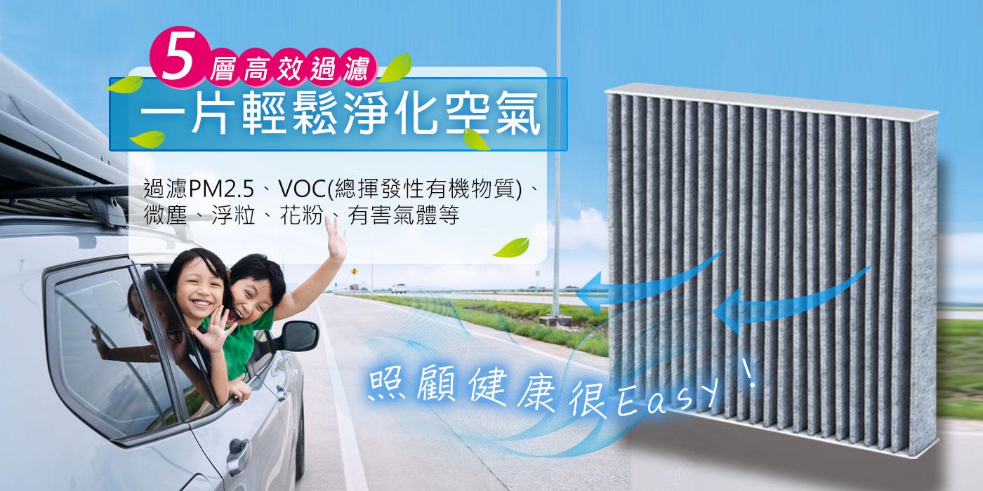 CARBUFF 汽車冷氣活性碳濾網 5層高效過濾